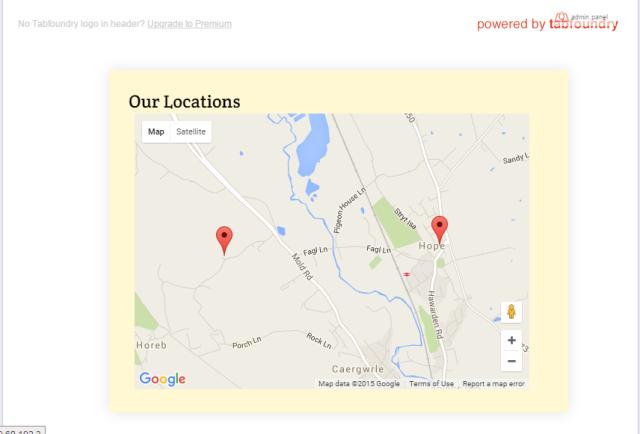 Locations FAcebook