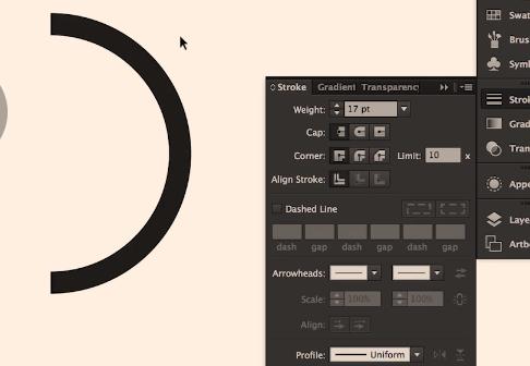illustrator circle