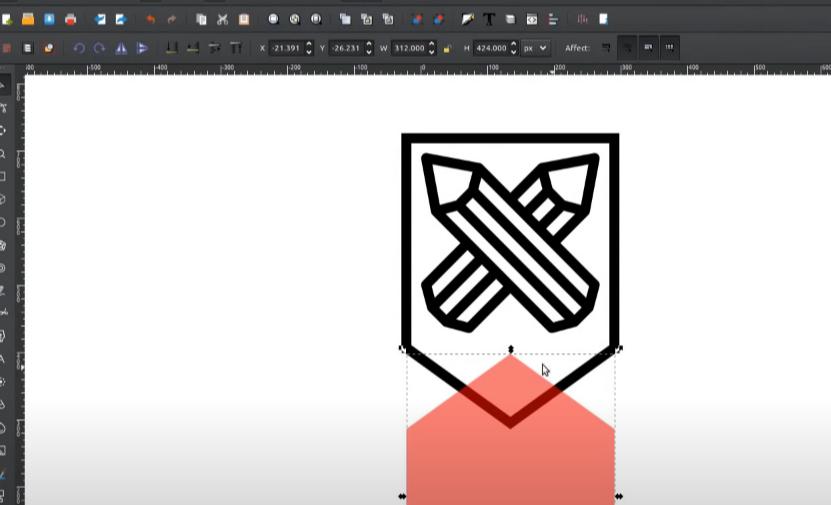 inkscape shield logo